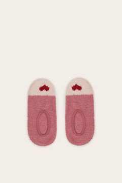 Womensecret Invisible non-slip cosy socks with hearts pink