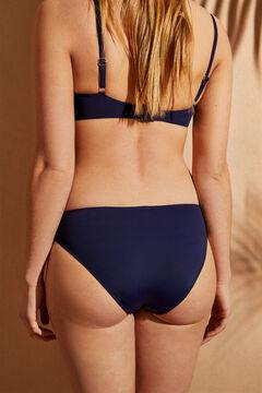 Womensecret Braga bikini clásica tiro alto azul azul