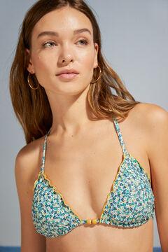 Womensecret Sustainable floral classic bikini bottoms blue