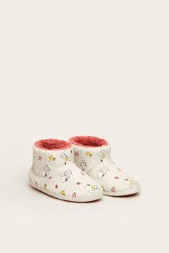 Womensecret Snoopy slipper boots beige
