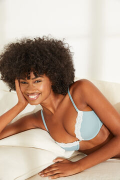 Womensecret BEAUTIFUL Classic turquoise cotton bra blue