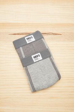 Womensecret Pack 2 calzoncillos boxer algodón gris gris