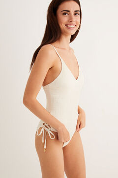 Womensecret Cut out swimsuit beige