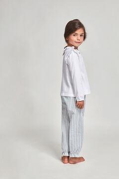 Womensecret Pijama Jersey Y Popelin Rayas niña azul