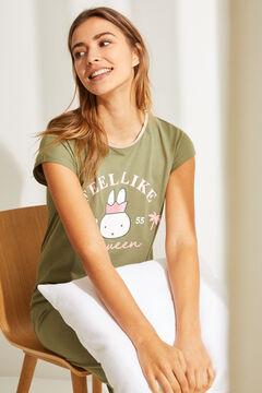 Womensecret Camisón midi algodón Miffy verde beige