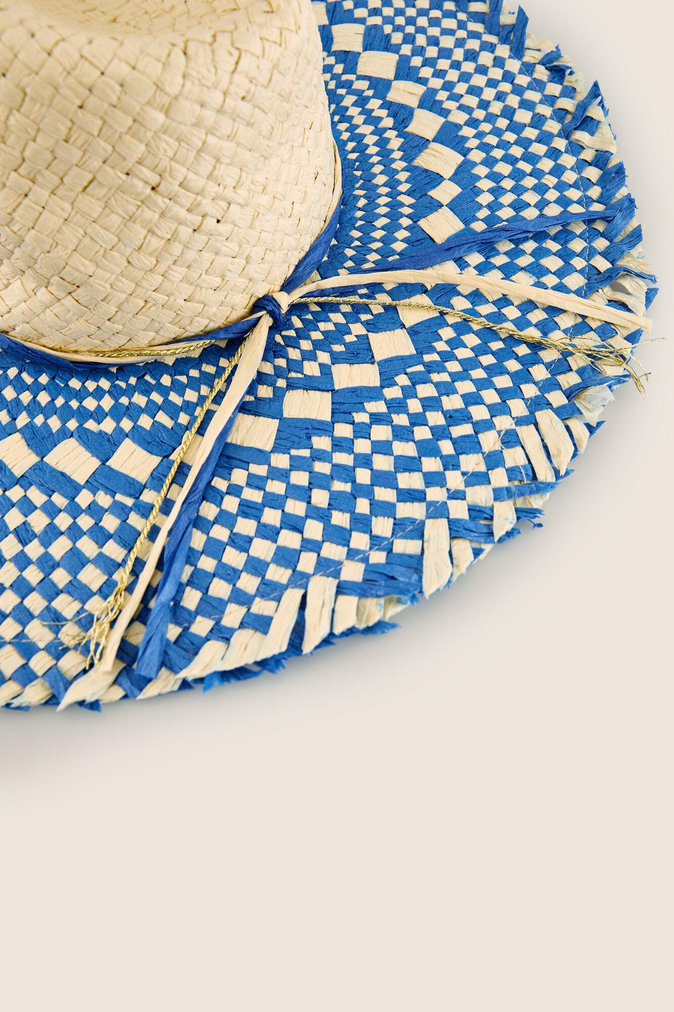 Sombrero rafia ala ancha bicolor  6725d739eaf