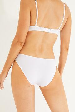 Womensecret 3 microfiber classic panties pack white