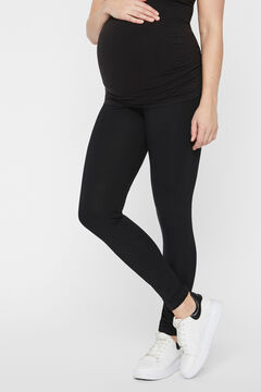 Womensecret 2-pack organic cotton maternity leggings black