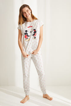 Womensecret Cotton Mickey and Minnie pyjamas grey