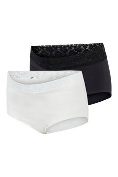 Womensecret Organic cotton maternity panties black