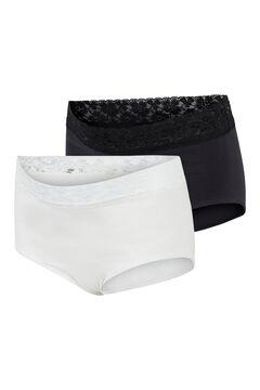 Womensecret Organic cotton maternity panties noir