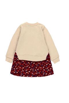 Womensecret Vestido punto combinado flores de bebé marrón