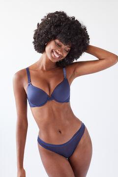 Womensecret BEAUTIFUL Blue tulle padded bra blue