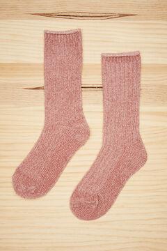 Womensecret Pink chenille socks pink