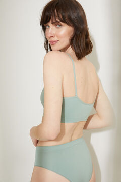 Womensecret Seamless halterneck top with removable cups green