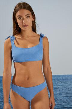 Womensecret Waffle bikini top blue