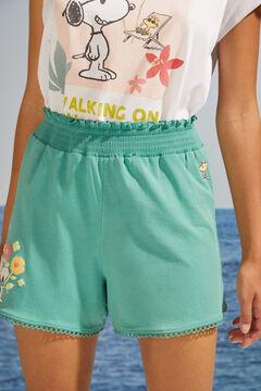 Womensecret Green Snoopy print pyjama shorts green