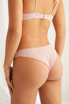 Womensecret Braguita brasileña detalles encaje rosa