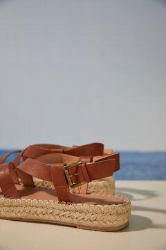 Womensecret Strappy platform sandals brown