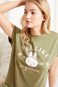 Womensecret Short cotton short-sleeved Miffy pyjamas beige