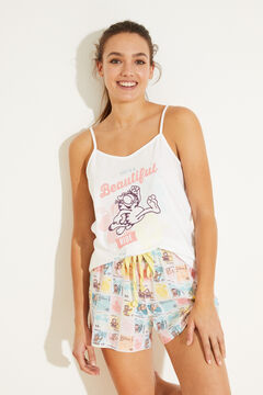 Womensecret Cotton vest pyjamas beige