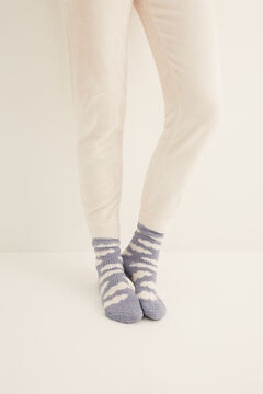 Womensecret Non-slip cosy ankle socks clouds  blue