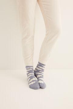 Womensecret Non-slip cosy ankle socks clouds  blue
