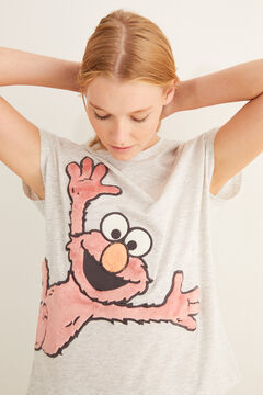 Womensecret Grey, short-sleeved Elmo pyjamas grey