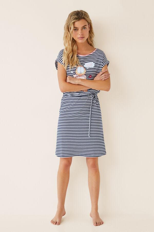 cae518c16 Womensecret Camisón corto rayas Garfield azul