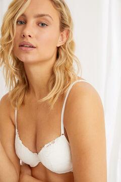 Womensecret BEAUTIFUL Classic white lace padded bra white