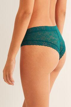 Womensecret Grey lace Brazilian panty  green