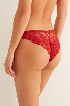 Womensecret Braguita clásica tul y encaje rojo rojo