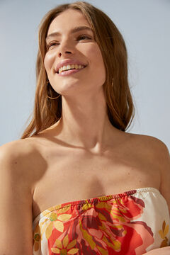 Womensecret Bandeau scarf bikini top beige