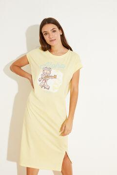 Womensecret 100% cotton yellow midi nightgown green