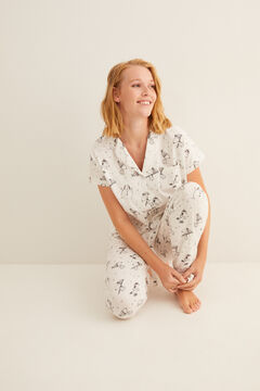 Womensecret Classic long short-sleeved Snoopy pyjamas grey