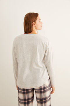 Womensecret Grey 'sleep' Henley t-shirt grey