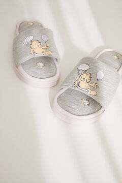 Womensecret Garfield slingback slippers grey