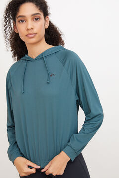 Womensecret Gathered hem sweatshirt Blau
