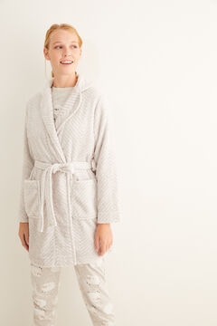 Womensecret Grey fleece robe grey