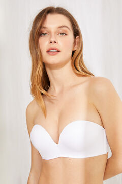 Womensecret Maxi push up strapless bra white
