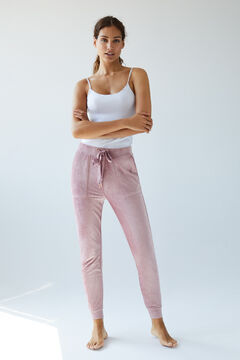 Womensecret Pink velour trousers pink