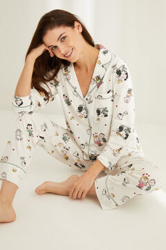 Womensecret Classic cotton Snoopy pyjamas white