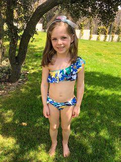 Womensecret Top bikini fleurs fillette bleu