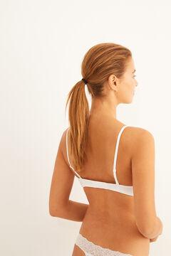 Womensecret Classic white organic cotton bra white