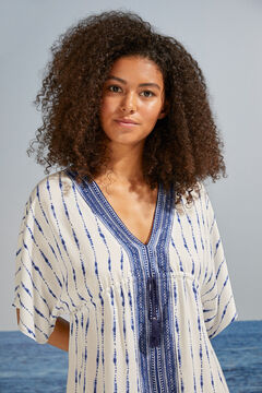 Womensecret Blue tie dye wide sleeve camisole white