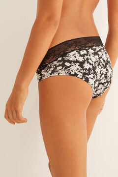 Womensecret Classic panty with lace trim black