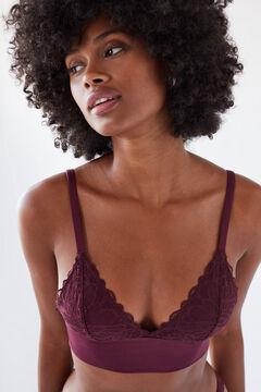 Womensecret Burgundy triangle bralette red