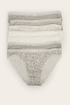 Womensecret 7-pack classic cotton panties grey