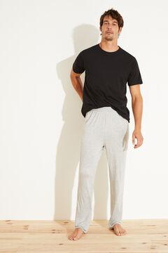 Womensecret Pantalón largo gris gris