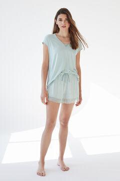 Womensecret Short green super soft jersey-knit short-sl